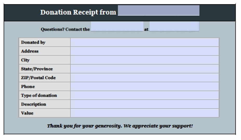 Donation form Template Pdf Fresh Free Donation Invoice Template Receipt Excel