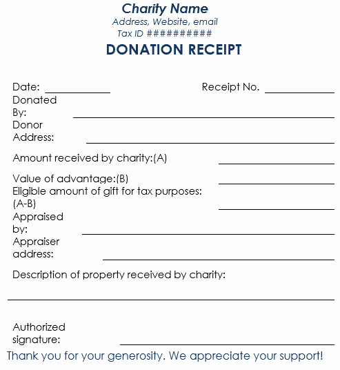 Donation form Template Pdf Inspirational Donation Receipt Template 12 Free Samples In Word and Excel