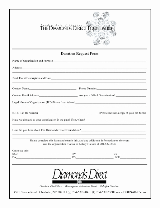 Donation form Template Pdf Luxury 36 Free Donation form Templates In Word Excel Pdf