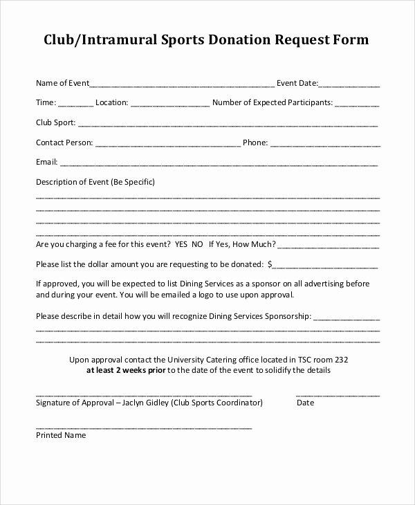 Donation form Template Pdf Unique 10 Donation Request form Samples Examples Templates