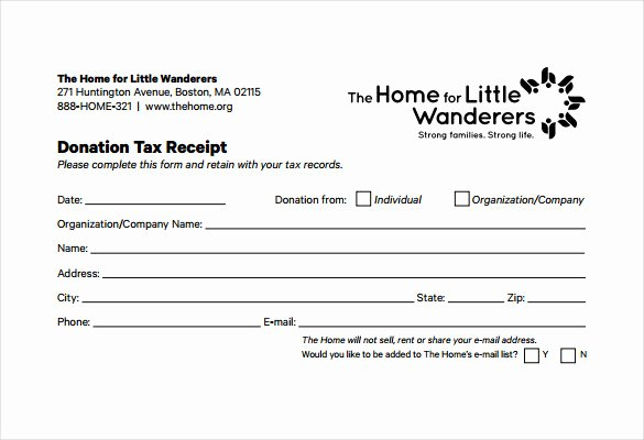 Donation form Template Pdf Unique Free 20 Donation Receipt Templates In Pdf