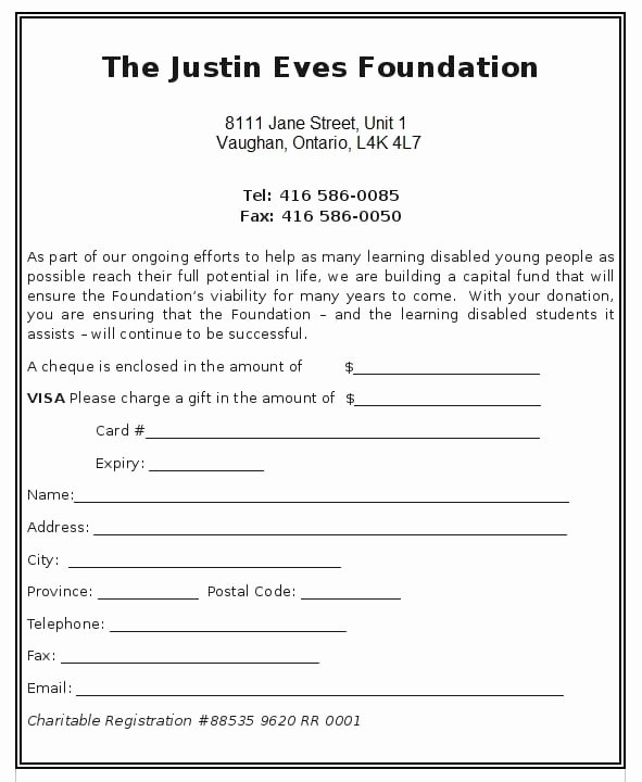 Donation form Template Word Best Of 6 Charitable Donation form Templates formats Examples
