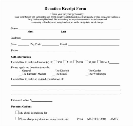 Donation form Template Word Elegant 36 Free Donation form Templates In Word Excel Pdf