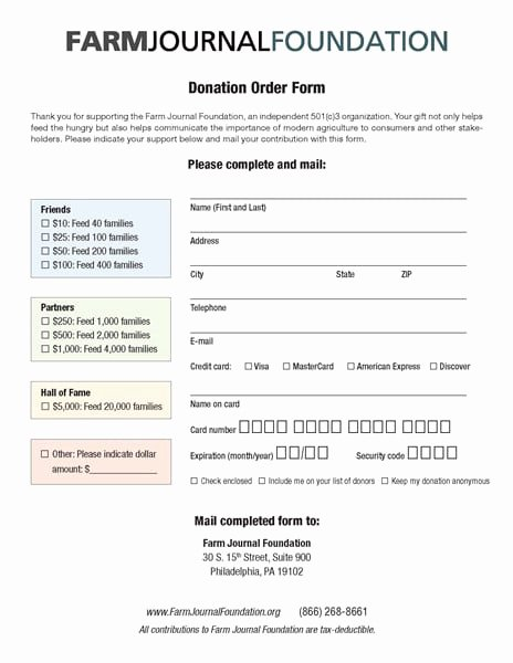 Donation form Template Word Unique 6 Charitable Donation form Templates Free Sample Templates