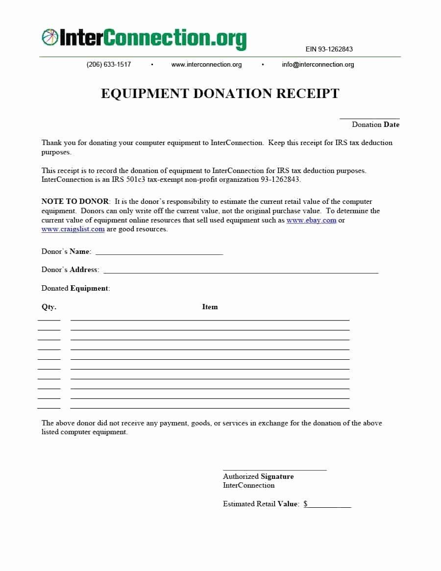 Donation Receipt Letter Template Awesome 40 Donation Receipt Templates & Letters [goodwill Non Profit]