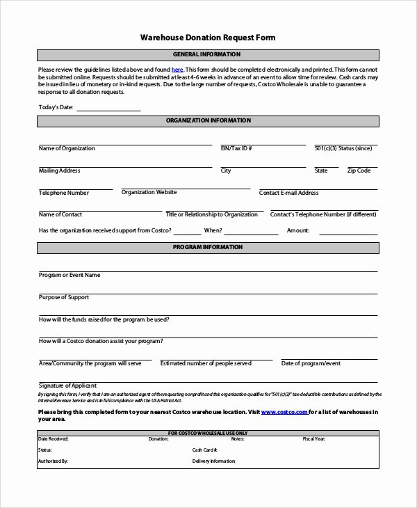 Donation Request form Template Awesome 10 Sample Donation Request forms Pdf Word