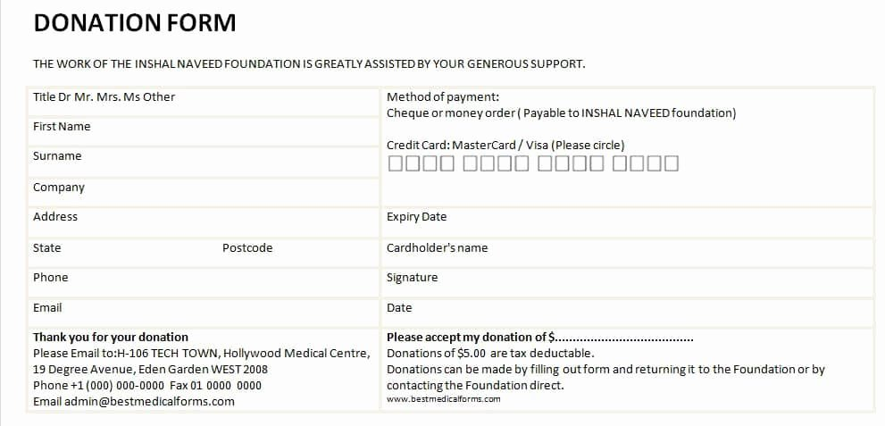 Donation Request form Template Awesome 6 Donation form Templates Excel Pdf formats