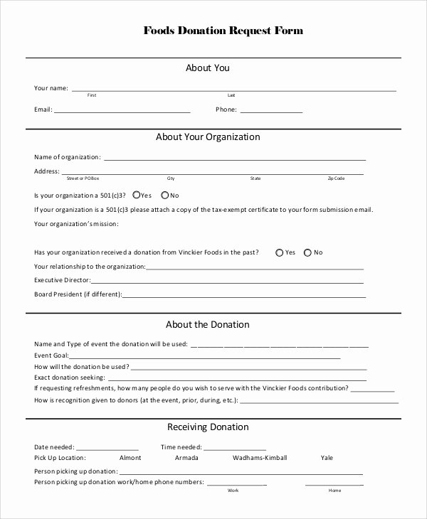 Donation Request form Template Fresh 10 Sample Donation Request forms Pdf Word