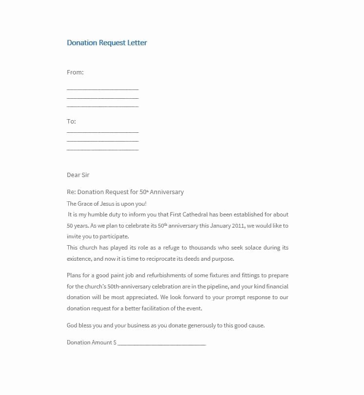 Donation Request form Template Fresh 43 Free Donation Request Letters & forms Template Lab