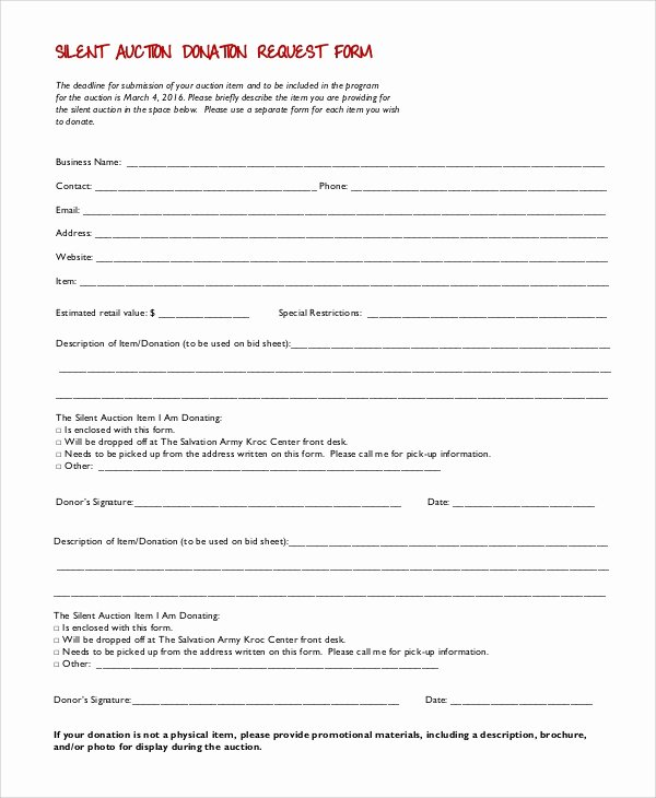 Donation Request form Template Inspirational 10 Sample Donation Request forms Pdf Word