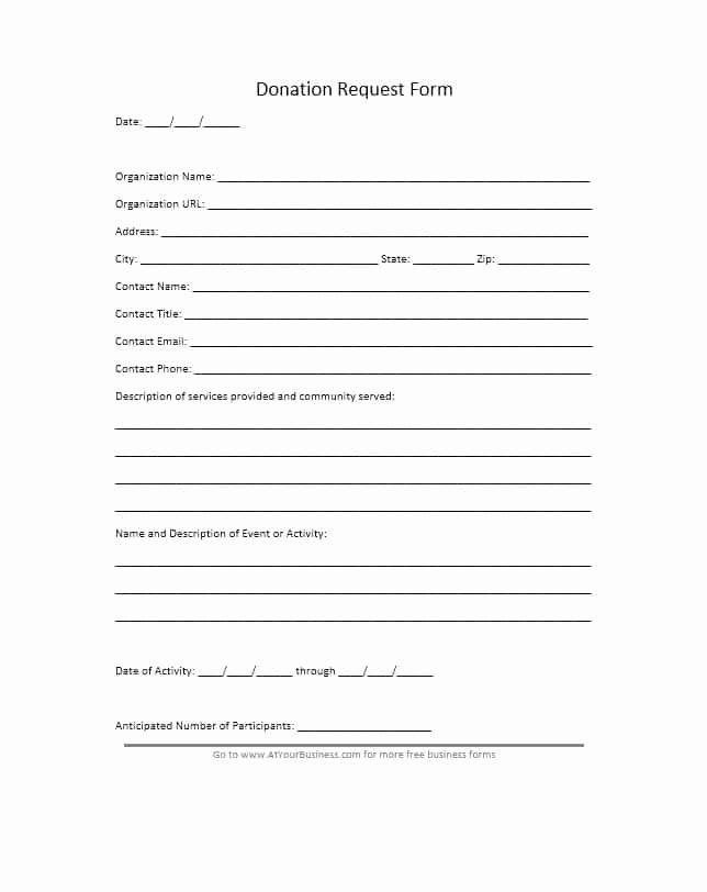 Donation Request form Template Lovely 43 Free Donation Request Letters & forms Template Lab
