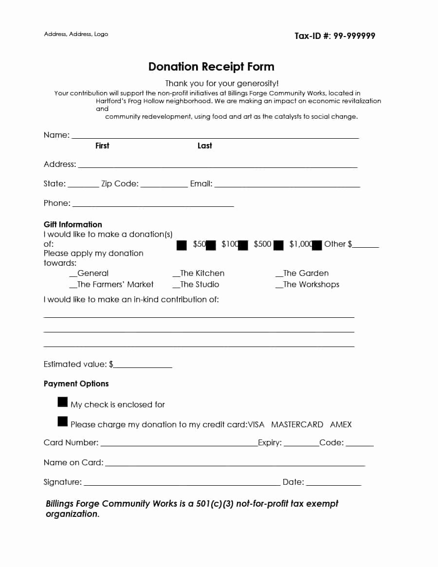 Donation Request form Template Lovely In Kind Donation Acknowledgement Letter Template