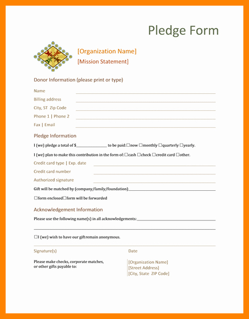 Donation Request form Template New 7 Printable Donation form Template