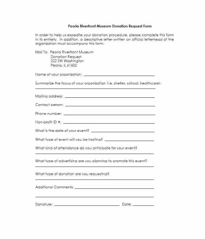 Donation Request forms Template Best Of 43 Free Donation Request Letters & forms Template Lab