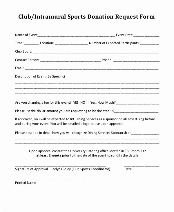 Donation Request forms Template Elegant 10 Donation Request form Samples Examples Templates