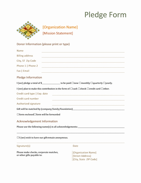 Donation Request forms Template Elegant Donation Pledge form This form normally Contains Basic