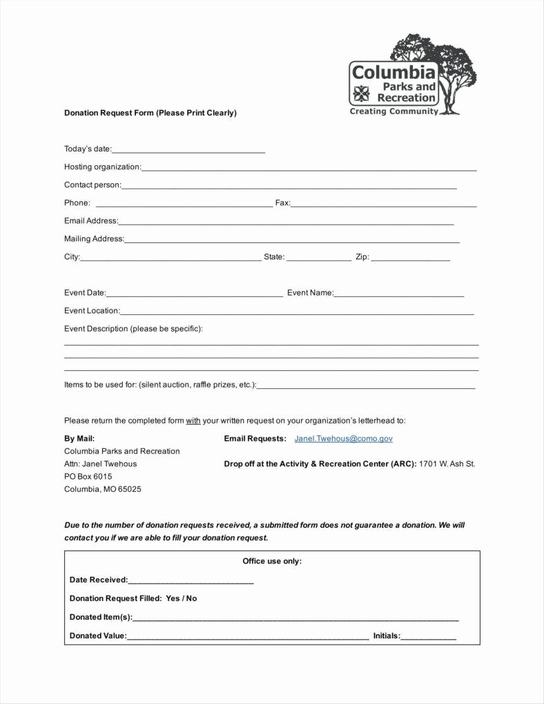 Donation Request forms Template Fresh Donation Request form Template Example Resume Template