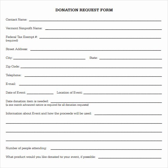 Donation Request forms Template Lovely Free Donation Request form Template