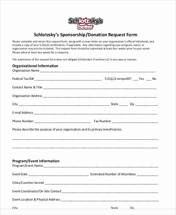Donation Request forms Template Unique 10 Donation Request form Samples Examples Templates