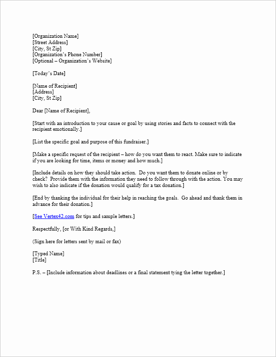 Donation Request Letter Template Elegant Free Request for Donation Letter Template
