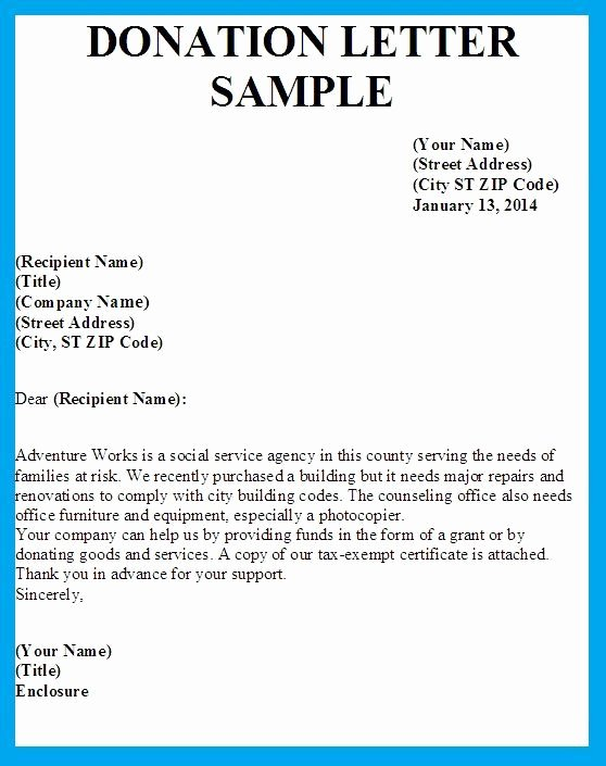 Donation Request Letter Template Elegant Sample Letters asking for Donations Bing Images