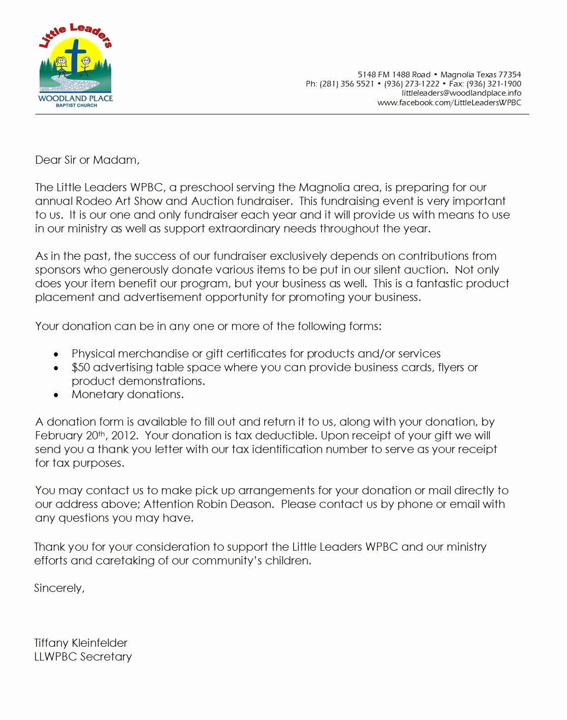 Donation Request Letter Template Inspirational Letter for Donations