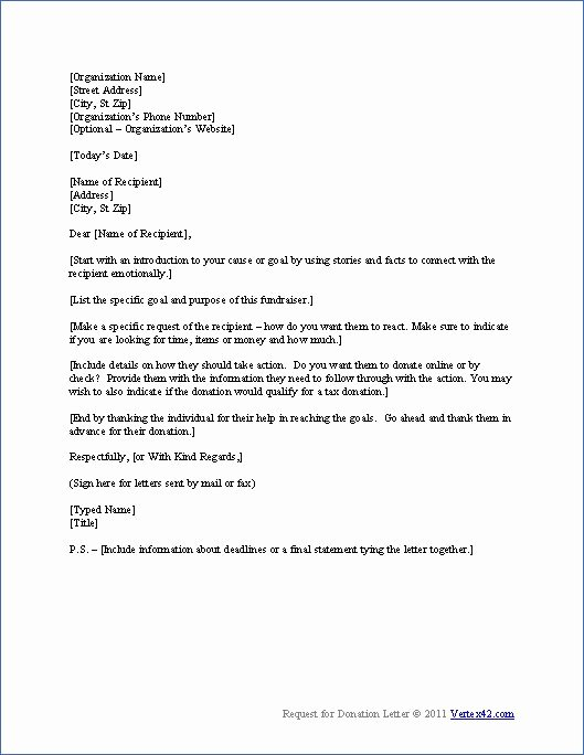 Donation Request Letter Template Inspirational Sample Donation Request Letter How to Write A Donation