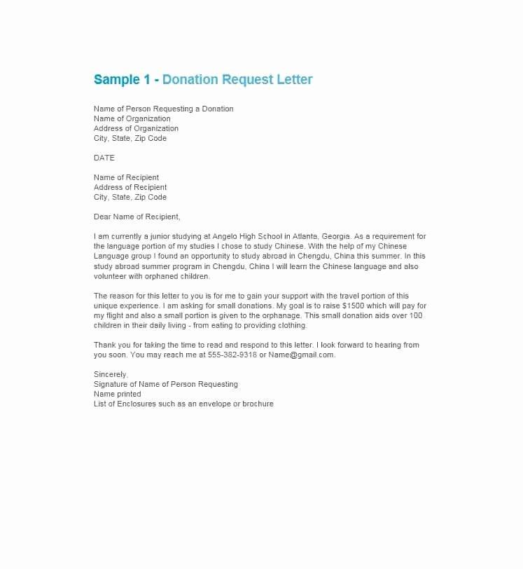 Donation Request Letter Template Unique 43 Free Donation Request Letters & forms Template Lab