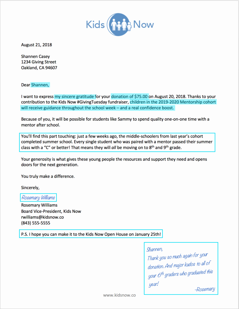 Donation Thank You Letter Template Elegant Mind Your Manners Thank Your Donors the Modern Nonprofit