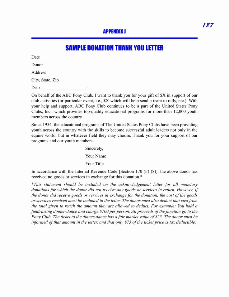 Donation Thank You Letter Template New Sample Donation Thank You Request Letter Sample Picture