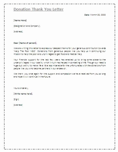 Donation Thank You Letter Templates Inspirational Best 25 Thank You Letter Ideas On Pinterest