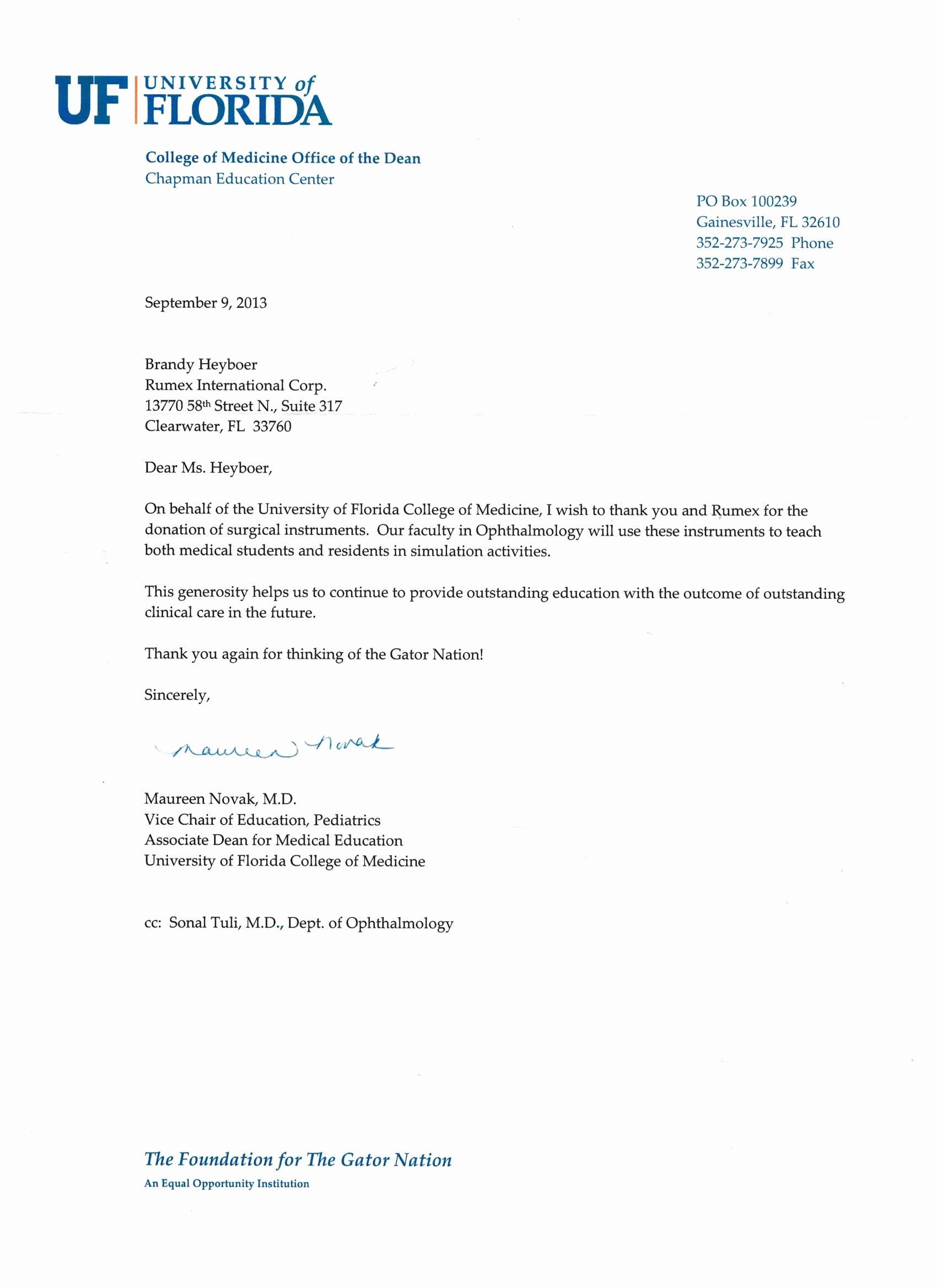 Donation Thank You Letter Templates New Rumex Donations