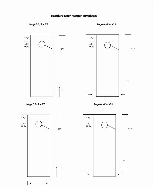 Door Hanger Template Psd Best Of Sample Promotional Door Hangers Templates 6 Free