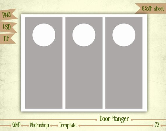 Door Hanger Template Psd Inspirational Door Hangers Digital Collage Sheet Layered by Eudanedigital