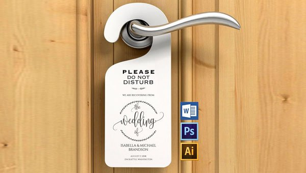Door Hanger Template Psd Unique 26 Printable Door Hanger Templates Free Premium Psd Ai