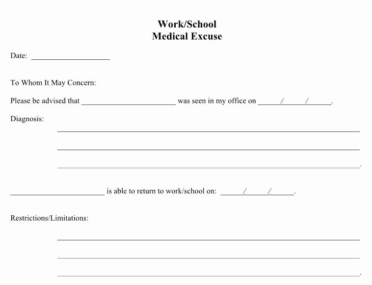 Dr Note Template for Work Awesome 21 Free Doctor Note Excuse Templates Template Lab