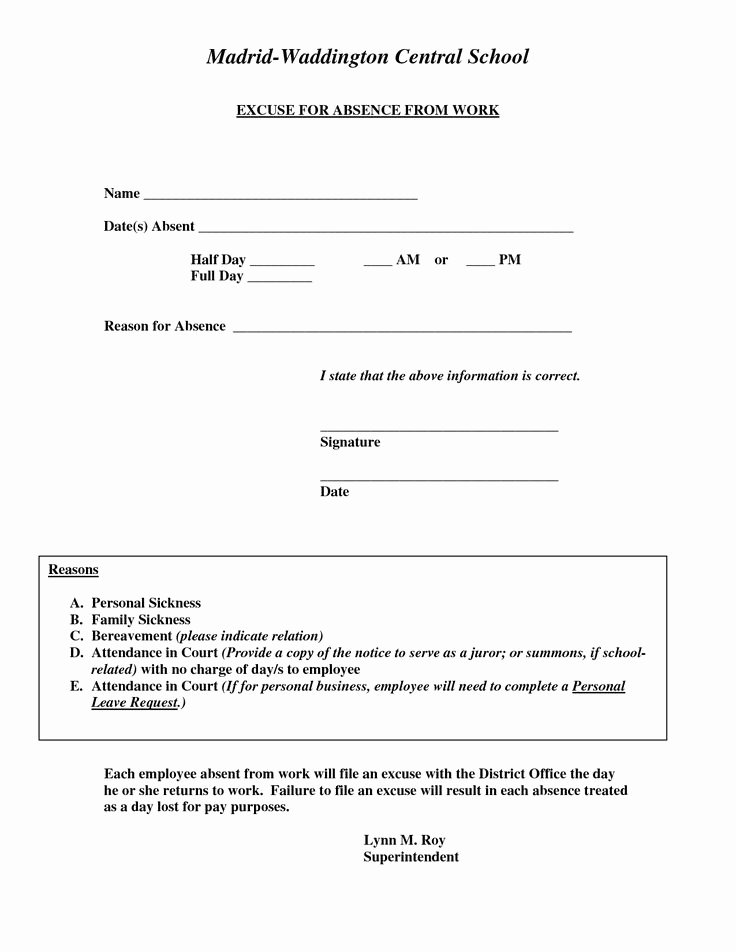 Dr Note Template for Work Inspirational Doctors Excuse for Work Template