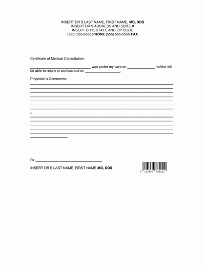 Dr Note Template for Work Lovely Doctors Note for Work Template