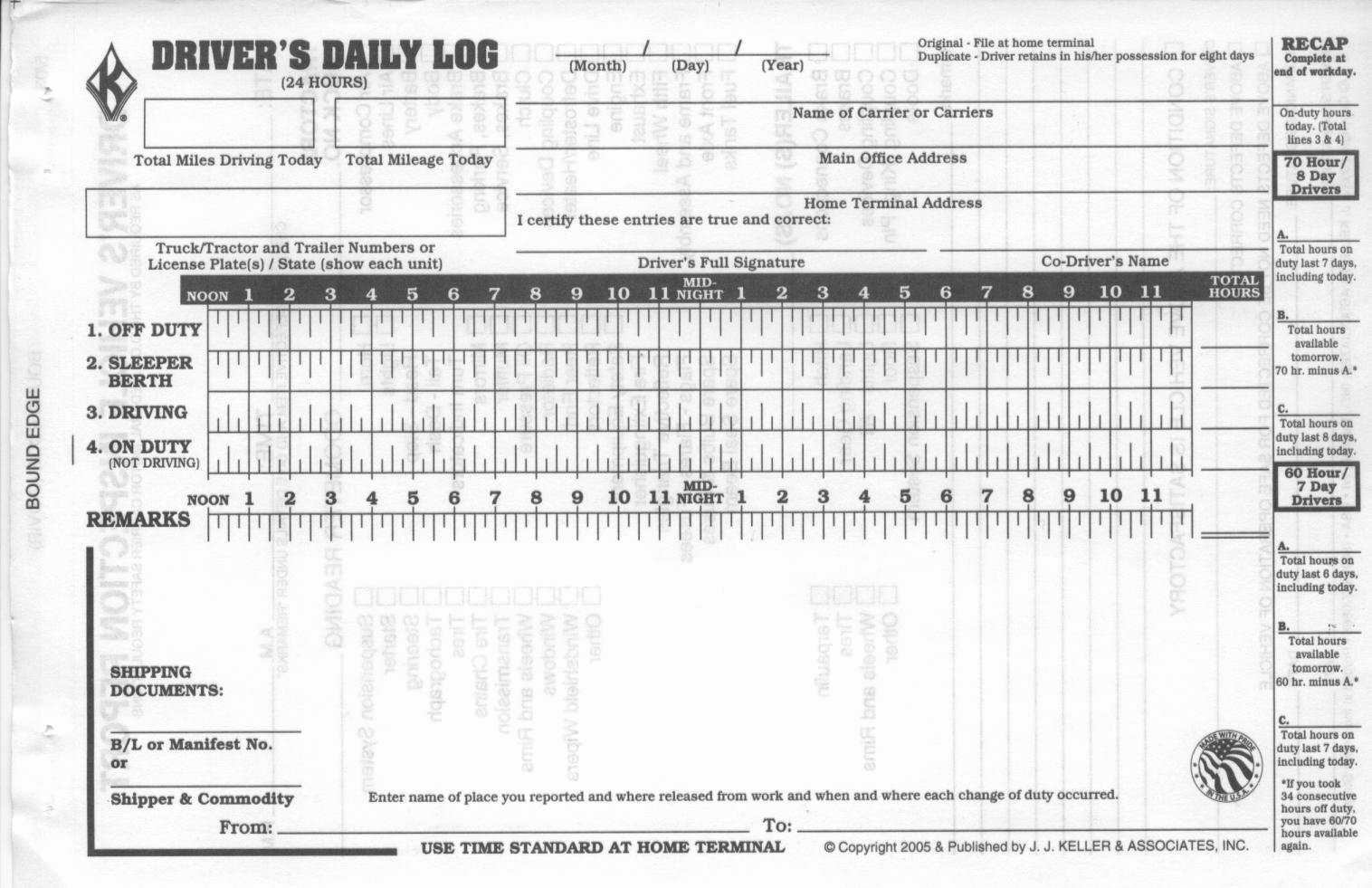 Driver Log Sheet Template Elegant Truck Driver Log Book Template