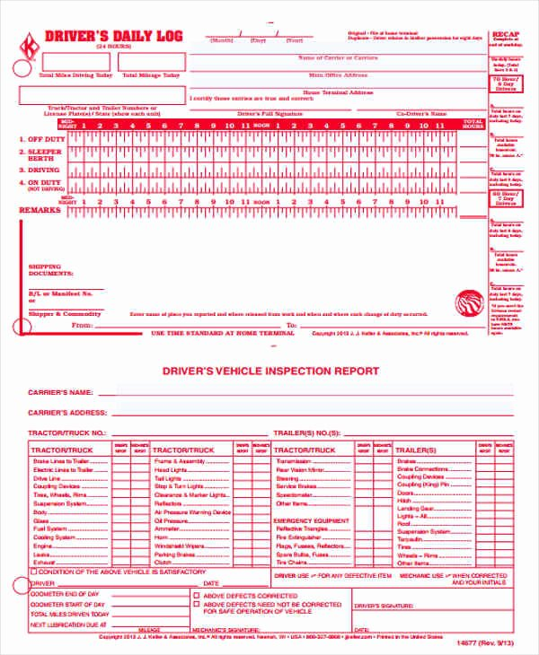 Driver Log Sheet Template Unique 56 Printable Log Sheet Templates