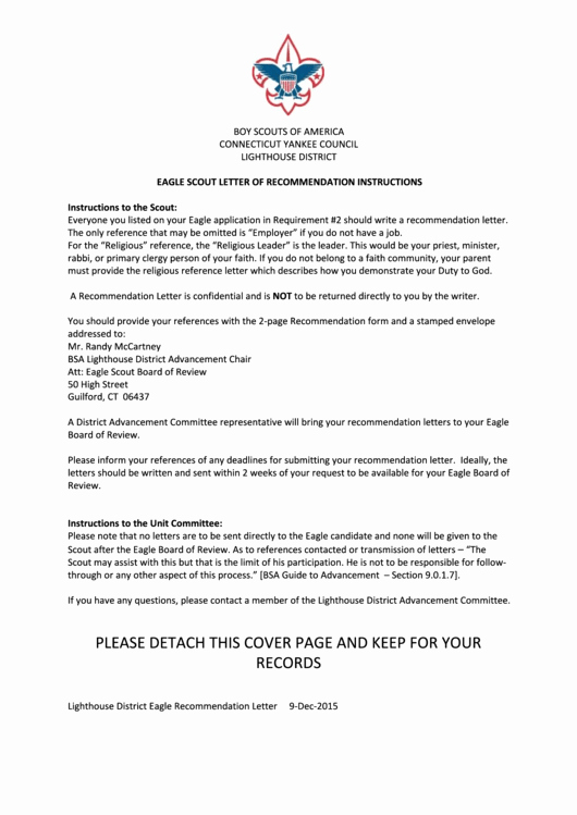 Eagle Scout Recommendation Letter Template Awesome Eagle Scout Letter Re Mendation Template with
