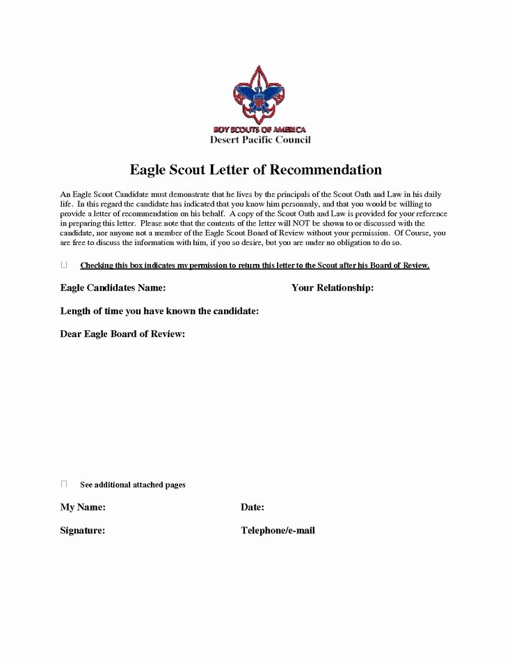 Eagle Scout Recommendation Letter Template Beautiful Eagle Scout Re Mendation Letter Sample