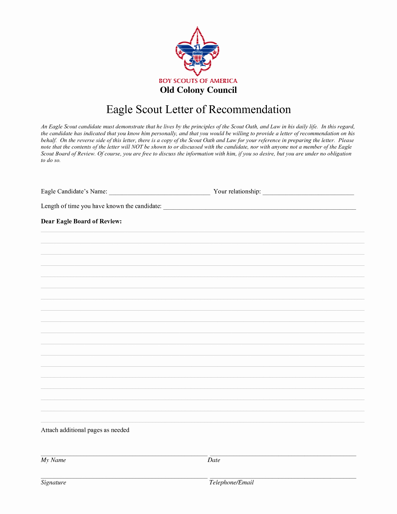 Eagle Scout Recommendation Letter Template Unique Best S Of Eagle Scout Re Mendation Reference Letter