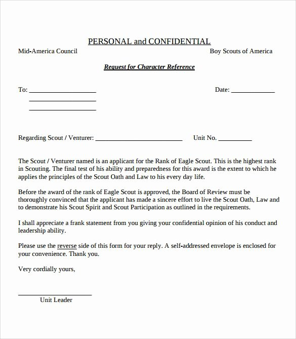 Eagle Scout Recommendation Letter Template Unique View source Image