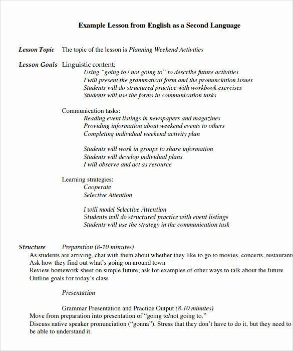 Early Childhood Lesson Plan Template Luxury Preschool Esl Lesson Plans Myscres