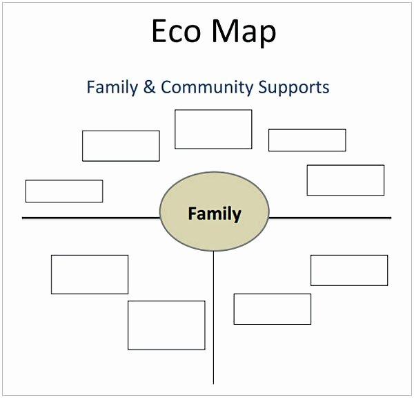Ecomap social Work Template Elegant E Ap Template
