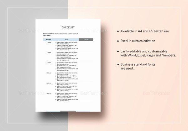 Editable Checklist Template Word Best Of 34 Word Checklist Templates