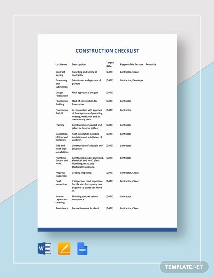 Editable Checklist Template Word Best Of Free Blank Checklist Template Download 312 Checklists In