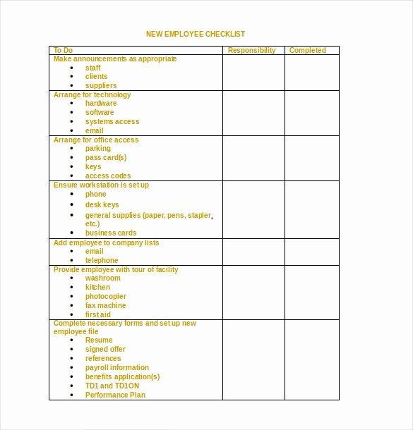 Editable Checklist Template Word Fresh 34 Word Checklist Templates
