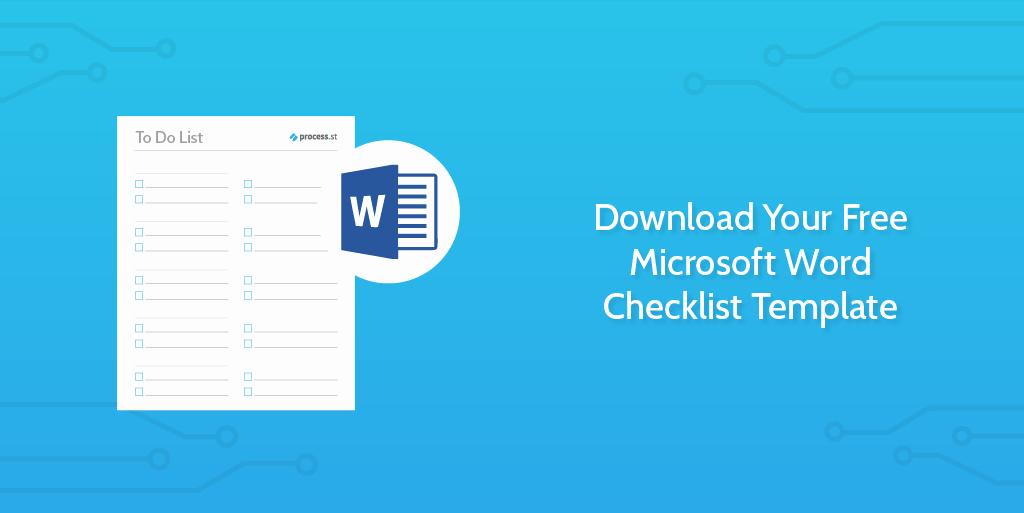 Editable Checklist Template Word Luxury Download Your Free Microsoft Word Checklist Template